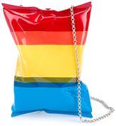 Anya Hindmarch crisp packet clutch - women - Suede/Brass - One Size