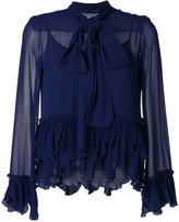See by Chloe frilled pussy bow blouse - women - Cotton/Viscose - 34