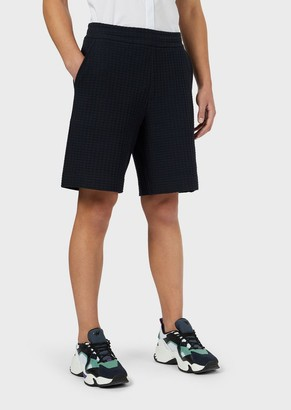 Emporio Armani Waffle-Weave Bermuda Shorts