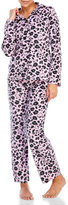 Hello Kitty Two-Piece Animal Print Fleece Pajama Set