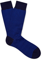 Pantherella - Striped Cotton-blend Socks