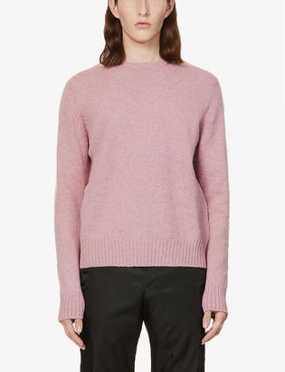 Prada Shetland crewneck wool jumper
