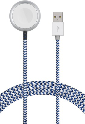 Element Works Blue/White Wireless Charger Braided Cable