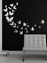 14 Mirror Butterflies and 3D Mirror Butterflies Wall Sticker