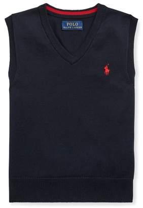 Ralph Lauren Cotton V-Neck Jumper Waistcoat