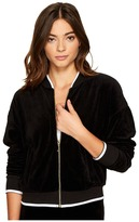 Juicy Couture Velour Ruched Sleeve Jacket Women's Coat