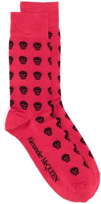 Alexander McQueen multi Skull knitted socks