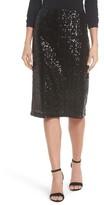 Halogen Petite Women's Sequin Pencil Skirt