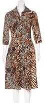 Samantha Sung Printed A-Line Dress w/ Tags