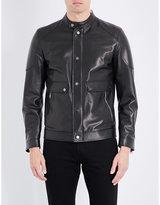 Salvatore Ferragamo Biker Leather Jacket