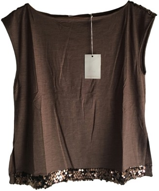 Non Signé / Unsigned Non Signe / Unsigned Brown Cashmere Top for Women