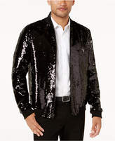 INC International Concepts Men's Reversible Sequin Bomber Jacket, Created for Macy's