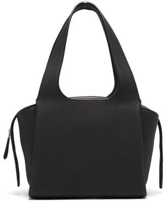 The Row Tr1 Medium Grained-leather Bag - Black