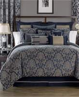 Waterford Sinclair Indigo Reversible California King Comforter Set Bedding