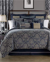 Waterford Sinclair Indigo Reversible King Comforter Set Bedding
