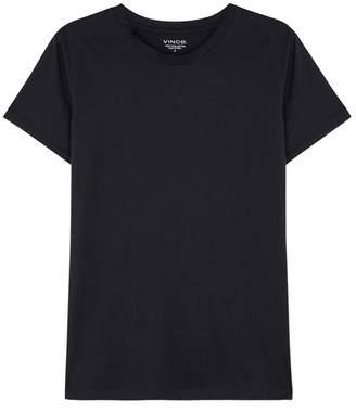 Vince Essential Navy Pima Cotton T-shirt