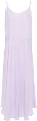 Vince Satin-twill Midi Dress