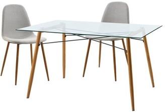 Versanora - Minimalista Table & Set Of 2 Chairs - Blue