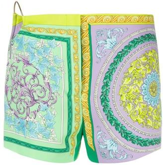 Versace Barocco Mosaic print shorts