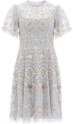 Needle & Thread Sweet Petal Embroidered Mini Dress