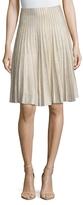 St. John Shimmer Kiklos A-Line Skirt