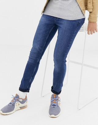 ONLY & SONS skinny jeans in washed blue denim