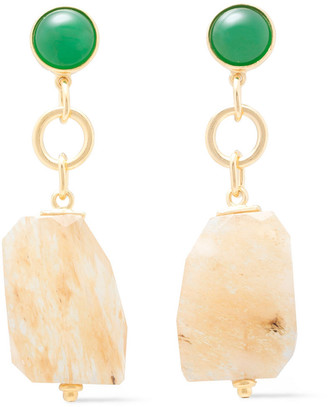 Ben-Amun Gold-tone Stone Earrings
