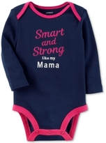 Carter's Smart & Strong Cotton Bodysuit, Baby Girls (0-24 months)
