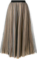 Nude flared style skirt