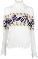 Aalto intarsia-knit turtleneck jumper
