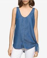 Calvin Klein Jeans Tie-Hem Denim Tank Top
