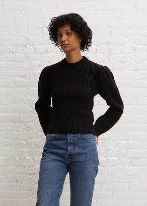 Lemaire Puffy Sleeves Sweater Black