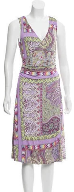 Etro Printed Midi Dress lime Printed Midi Dress