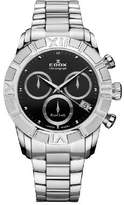 Edox Women's 10406 3 NIN Royal Lady Chronograph Dial Steel Watch