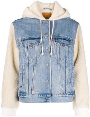 Levi's contrast hooded sherpa jacket