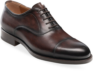 Magnanni Men's Jefferson Leather Cap-Toe Oxfords