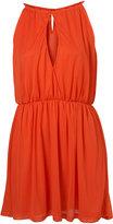 Orange Cutaway Halter Dress