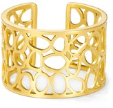 T Tahari Essentials Worn Gold Filigree Cuff Bracelet