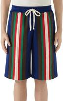 Gucci Stripe Technical Jersey Shorts