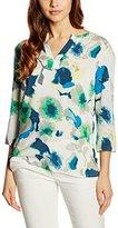 More & More Women's Regular Fit Crew Neck 3/4 Sleeve Blouse - Multicoloured - 8