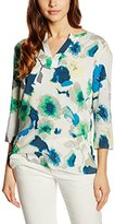More & More Women's Regular Fit Crew Neck 3/4 Sleeve Blouse - Multicoloured -