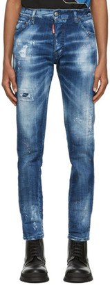 DSQUARED2 Blue and Orange Country Cool Guy Jeans