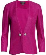 St. John Textured Metallic Inlay Knit Jacket