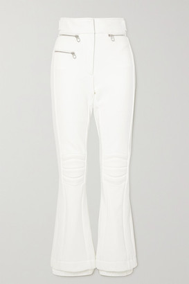 Chloe - Fusalp Paneled Bootcut Ski Pants - White
