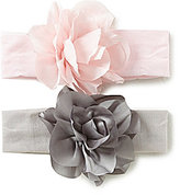 Starting Out Baby Girls 2-Pack Flower Headwraps