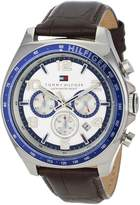 Tommy Hilfiger Men's 1790937 Sport Luxury Chronograph and Brown leather Strap Watch