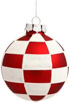 "Vickerman 3"" Red and White Check Balls, Set of 4"