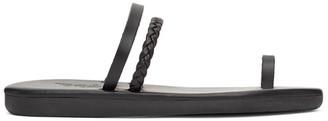 Ancient Greek Sandals Black Gyalos Sandals