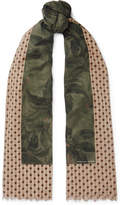 Dries Van Noten Fringed Printed Cotton-Gauze Scarf