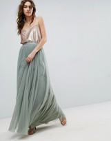 Needle & Thread Needle and Thread Tulle Maxi Skirt